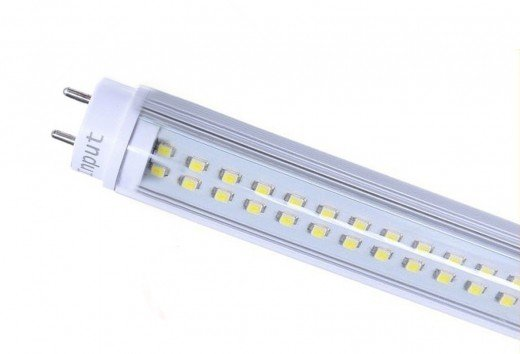 A T8 replacement LED lamp.