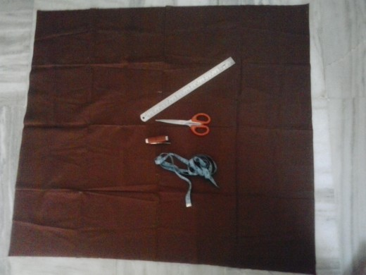 Materials required for stitching a blouse