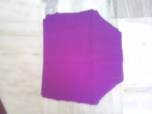 This is sleeve of the blouse (a pair of sleeves is cut )