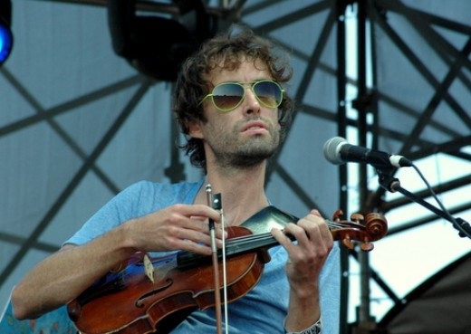 The violin, Andrew Bird's instrument of choice