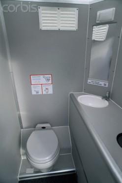 Airliner restroom.