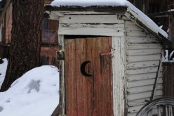 This is a vintage outhouse. Let's pause for a moment of respect.