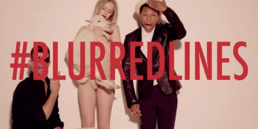 Controversial Blurred Lines video by Robin Thicke's.