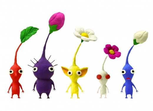 See what I'm talking about? These critters are from a game called Pikmin.