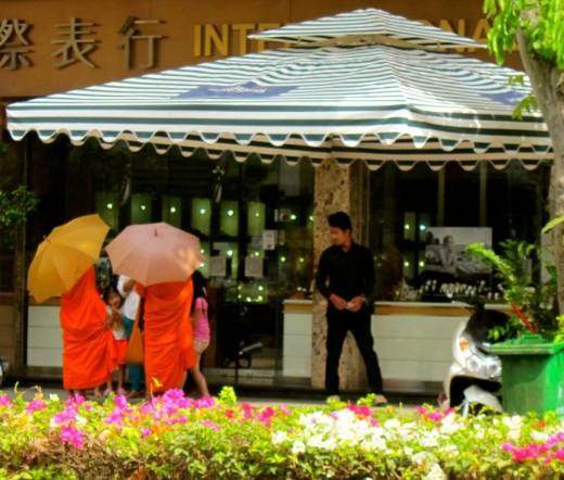 Khmer Offering to Monks in Phnom Penh