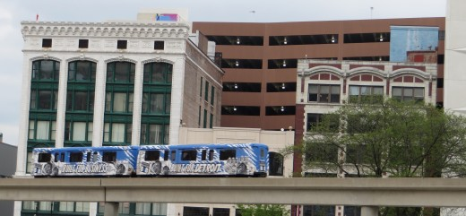 The Detroit People Mover.