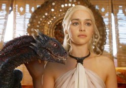 Dany and one of her three dragons