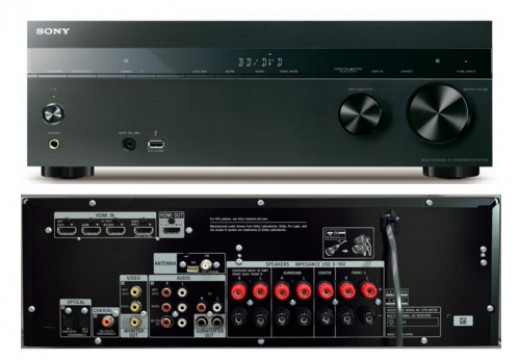 Here we show the Sony STR-DH750 7.2 Channel 4K Surround Sound Amplifier.