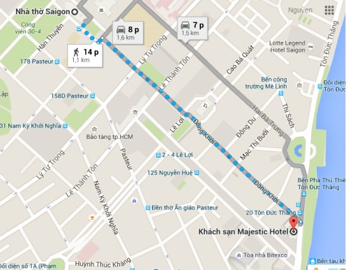 Another walking route tracked by Google
