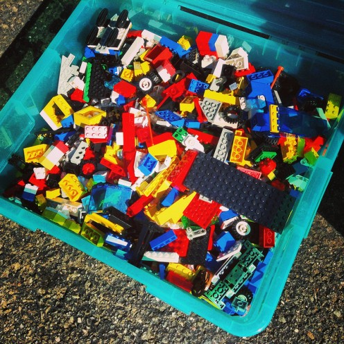 A box of Lego bricks, or elementary particles?