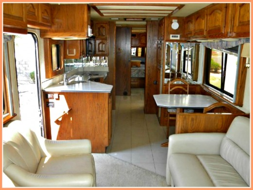 A clean, orderly interior helps to sell your coach.
