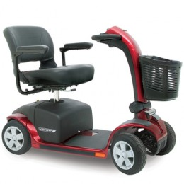 This is a mobility scooter, note how the front end differs from that of an electric wheelchair.