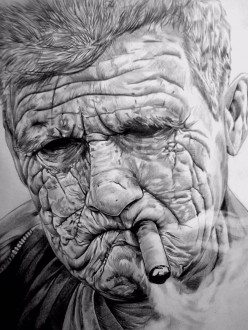 """""""Hard living, hard living, smoking. I forget which one did me in."""""""
