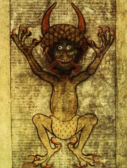 "The Devil as he appears in Codex Gigas or the ""Devil's Bible"""