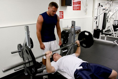 Always train with a spotter! It's the #1 rule of bench press safety!