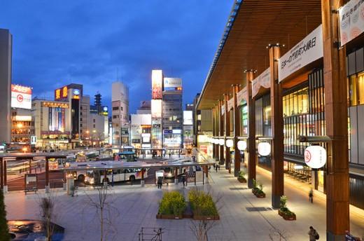 Nagano Station Square.