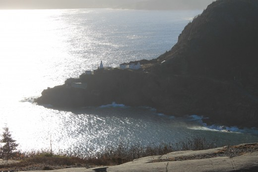 View of Fort Amherst from the North Head Trail.