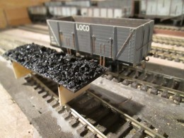 'Loco Coal' says it all, coal wagons to bring the fuel to keep the locomotives on the rails to bring the goods, freight, minerals, passengers to their destinations. This is a modified off-the-shelf model with removable (real) coal load