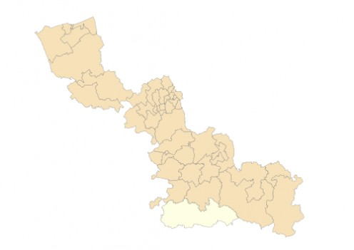Map location of Le Cateau-Cambresis canton, Nord department