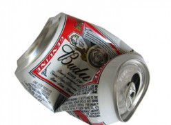 Crushing today's soft,  aluminum cans still  impress the girls.
