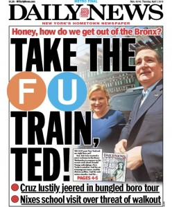Cruz gets a taste of #NewYorkValues in the Bronx