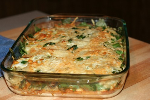 Spinach & Two-Cheese Casserole