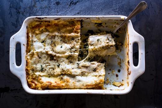 VEGETARIAN Greens and Cheese Lasagna