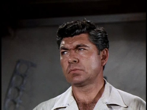 "Claude Akins, character actor, famous  for thug roles. But in the late 70's, Adkins and Frank Converse, played two buddies who drove a truck for a living in the NBC show: ""Movin' On."""