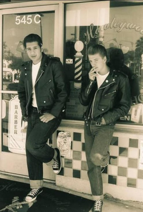 Quiz: Are these thugs or greasers? It was tough in the early days to tell the difference.