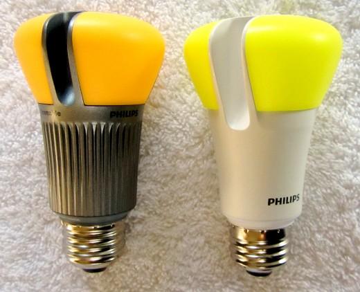Warm white LED bulbs.
