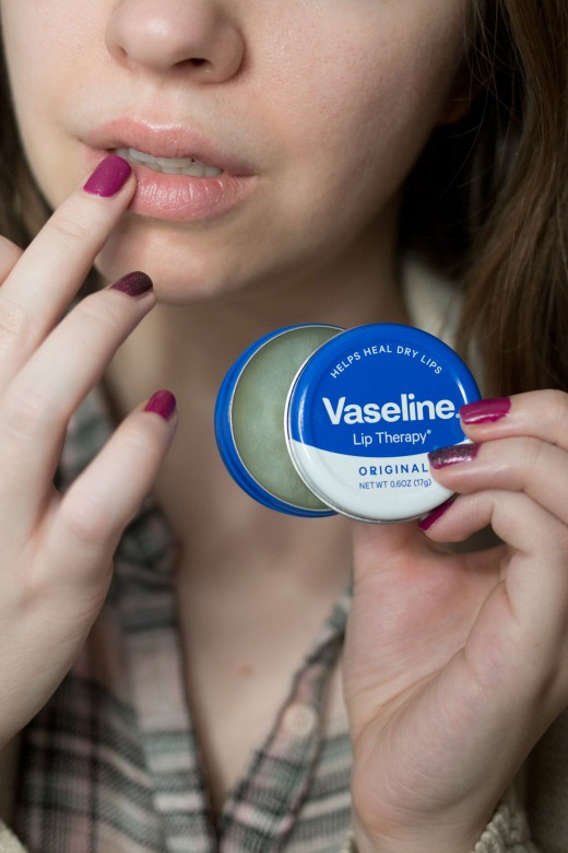 Dry/Cracked Lips? Does ChapStick not do it for you?  Forget about that ChapStick, Vaseline will carry all the moisture your beautiful lips need to stay luscious and smooth. Just replace your ChapStick with vaseline and apply when needed.