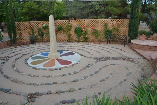 The sacred energy vortex represented in the Unity of Sedona Labyrinth.