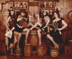 Plenty of friendly saloon girls to choose from.