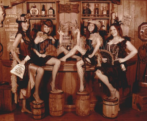 Plenty of friendly saloon girls to choose from.