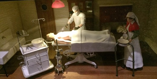 Operating theatre in the model ship in Te Papa Museum