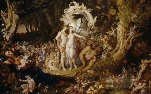"""The Reconciliation of Oberon and Titania"" - Joseph Noel Paton (1821-1901)"
