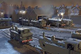Another atmospheric view of Belmont Road - Colin acquired the layout from a friend and made a few modifications before taking it out onto the exhibition circuit
