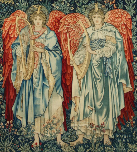 """Angeli Laudantes"" - Edward Burne-Jones (1833-1898)"