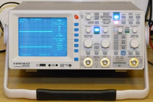 Modern Cathode ray oscilloscope with advanced measurement capabilities