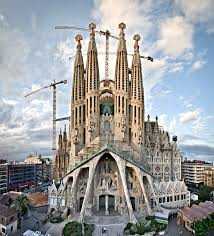 Gaudi's Sagrada Familia Cathedral...never to be finished? With it's crane companions as ever.