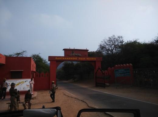 Entrance of Ranthambore Tiger Reserve