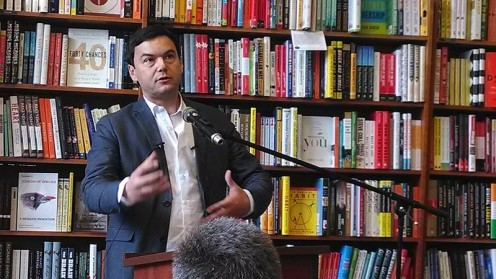 Thomas Piketty in Cambridge, Massachusetts