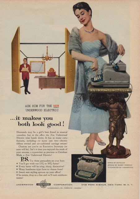 Another ad featuring a secretary.