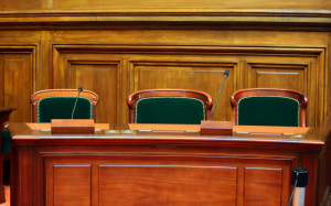 Empty Courtroom Table