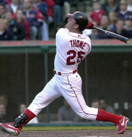 Six feet and five inches, all 250 pounds of Jim Thome went into his monster swings. He sure hit a lot of home runs.