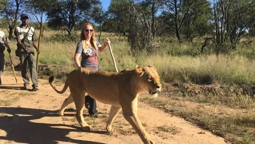 Walking with my Pal Sandy in South Africa