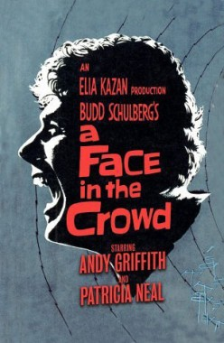 """Famous poster for movie classic: """"A Face in The Crowd."""""""