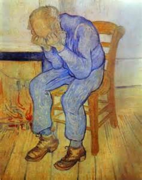 """""""On the Threshold of Eternity"""" by Vincent Van Gogh"""