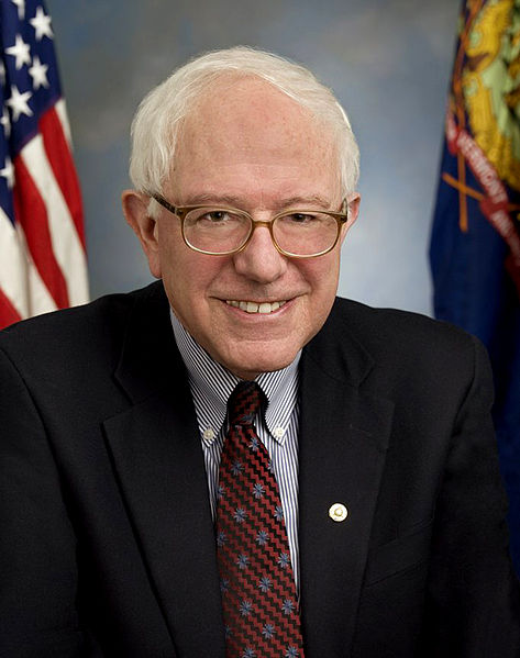 Bernie Sanders, one of the democratic candidates running for president of the United States.