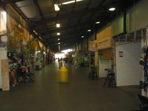 Open air portion of the market.
